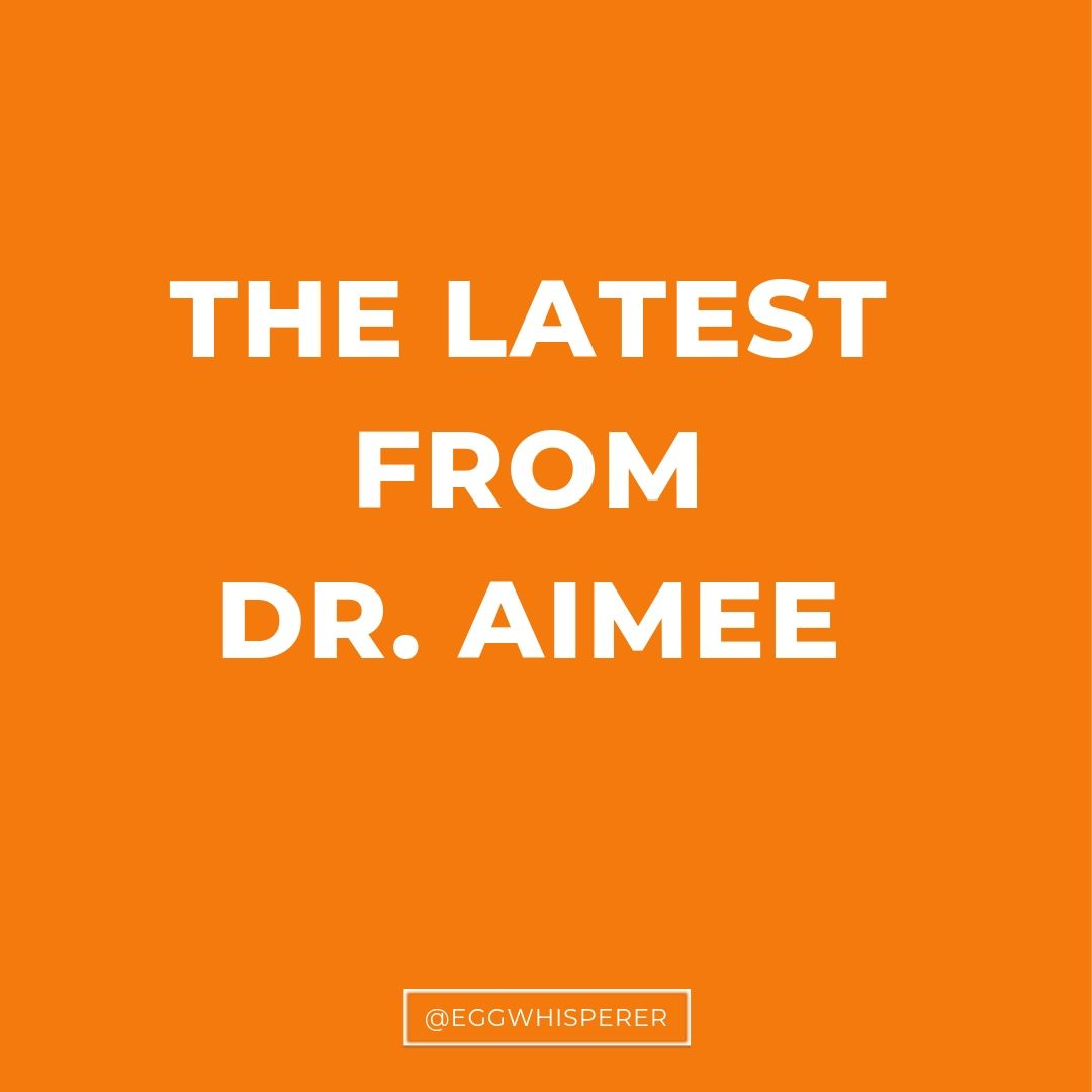 The latest from Dr. Aimee