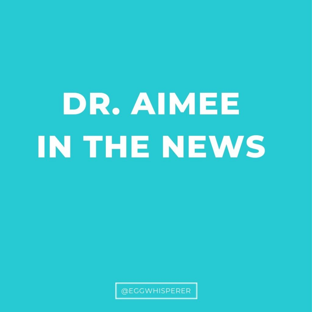 Dr Aimee in the news