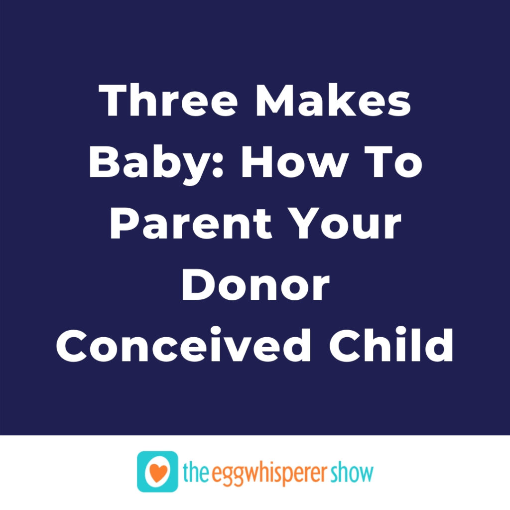 Three Makes Baby: How To Parent Your Donor Conceived Child by Jana Rupnow
