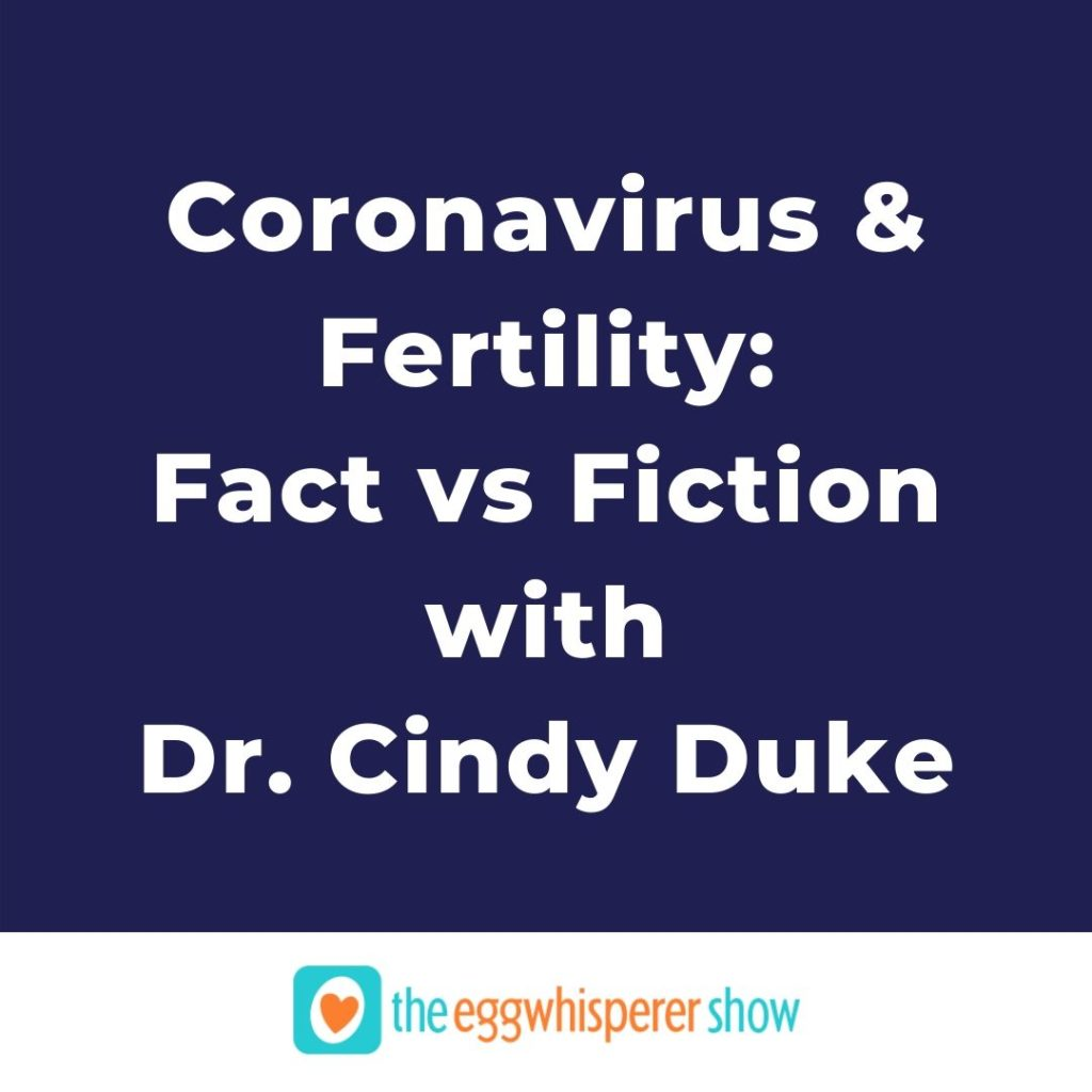 Coronavirus & Fertility: Fact vs Fiction with Dr. Cindy Duke