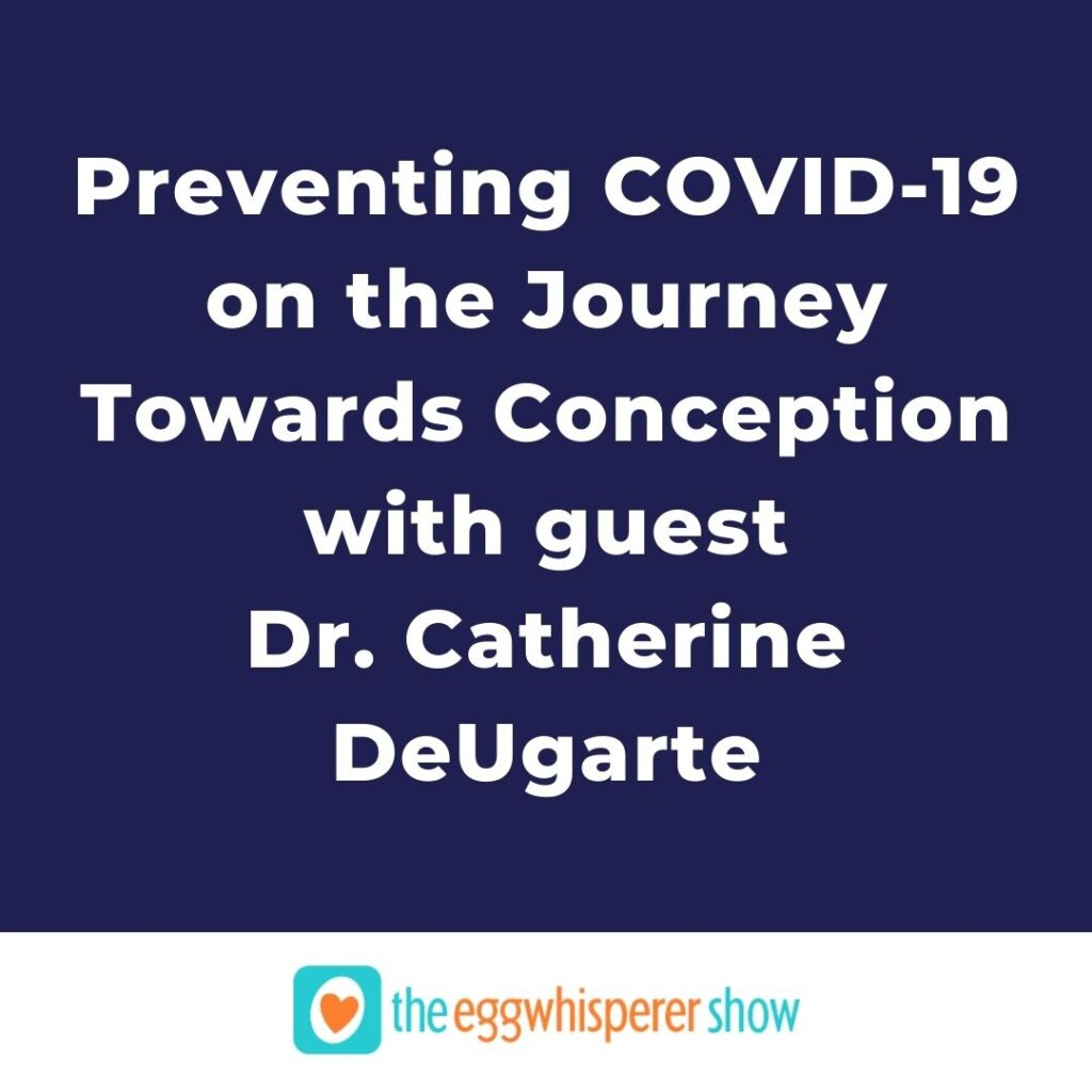 Preventing COVID-19 on the Journey Towards Conception with guest Dr. Catherine DeUgarte